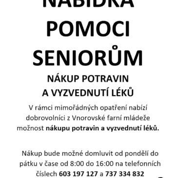 Nabídka pomoci seniorům